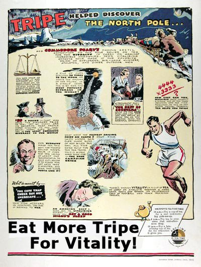 Ad. © Tripe Marketing Board,1952