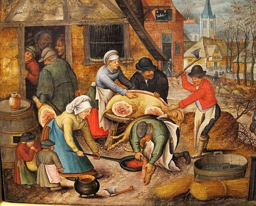 Slaughtering the pig in the Middle Ages