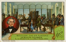 Liebig's Laboratory, Chimistes Celebres, Liebig's Extract of Meat Company Trading Card, 1929