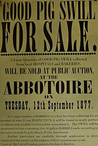 Pig swill auction poster @ Wikipedia
