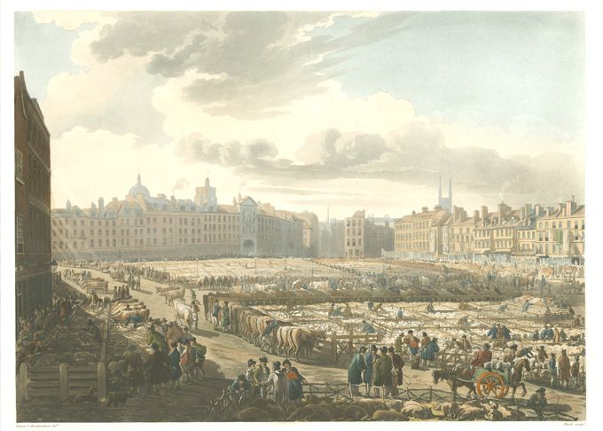 A bird's eye view of the market (unknown)