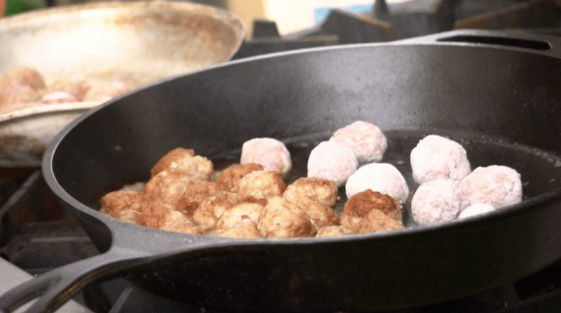 Balls in the pan