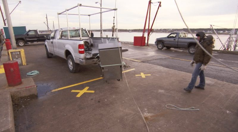 loading the oven off the ferry
