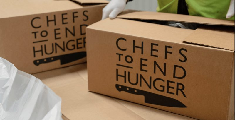 Chefs to end hunger group. A box.