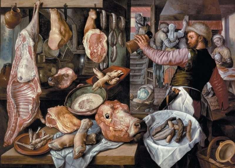 16th century butchers' shop