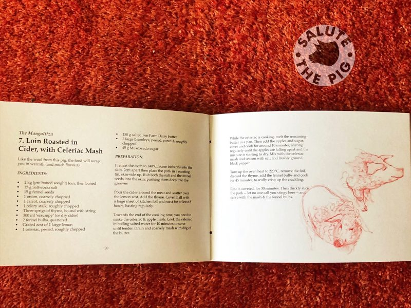 Salute The Pig recipes book contents 2