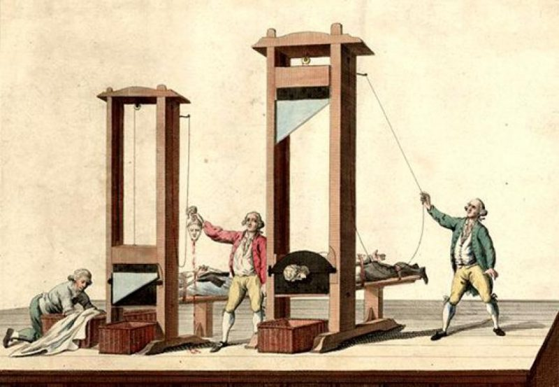 The guillotine in action