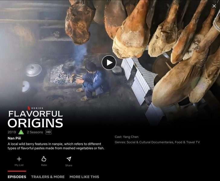 Flavourful Origins, Netflix