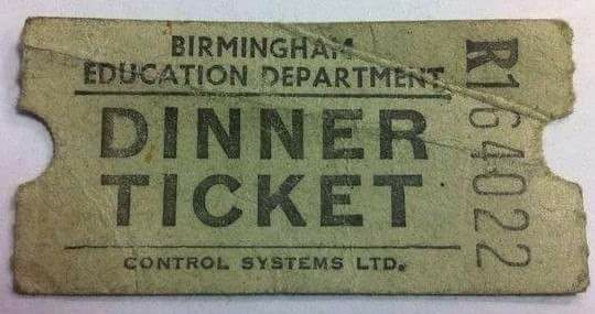 School dinner ticket